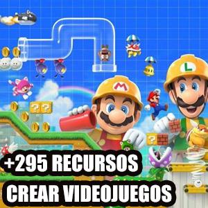 +295 recursos para aprender a diseñar y crear videjuegos ( Español, Inglés)