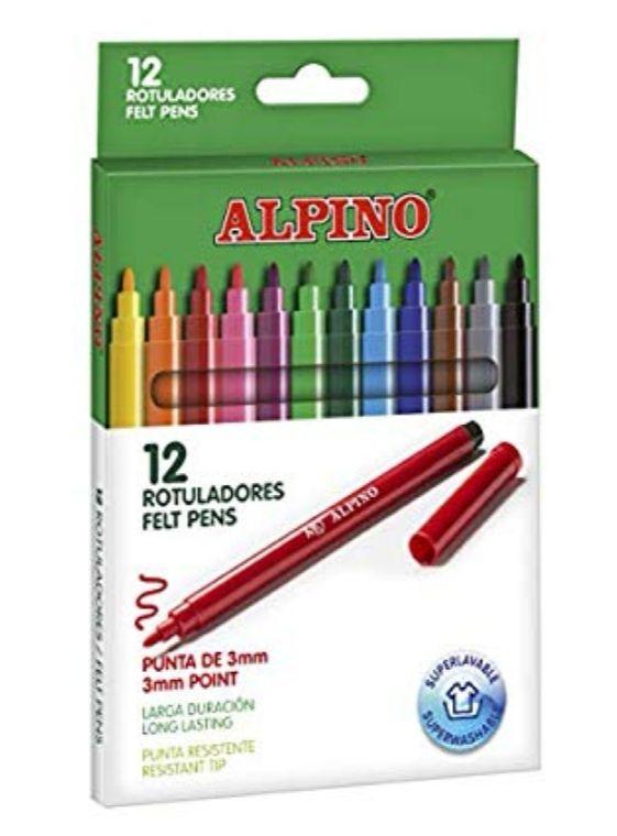 2 unidades de Alpino - Pack de 12 rotuladores, colores surtidos
