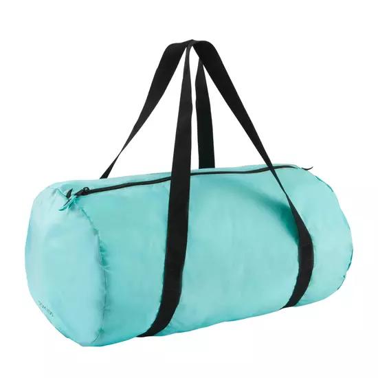 Bolsa plegable doymos 30 litros color verde turquesa