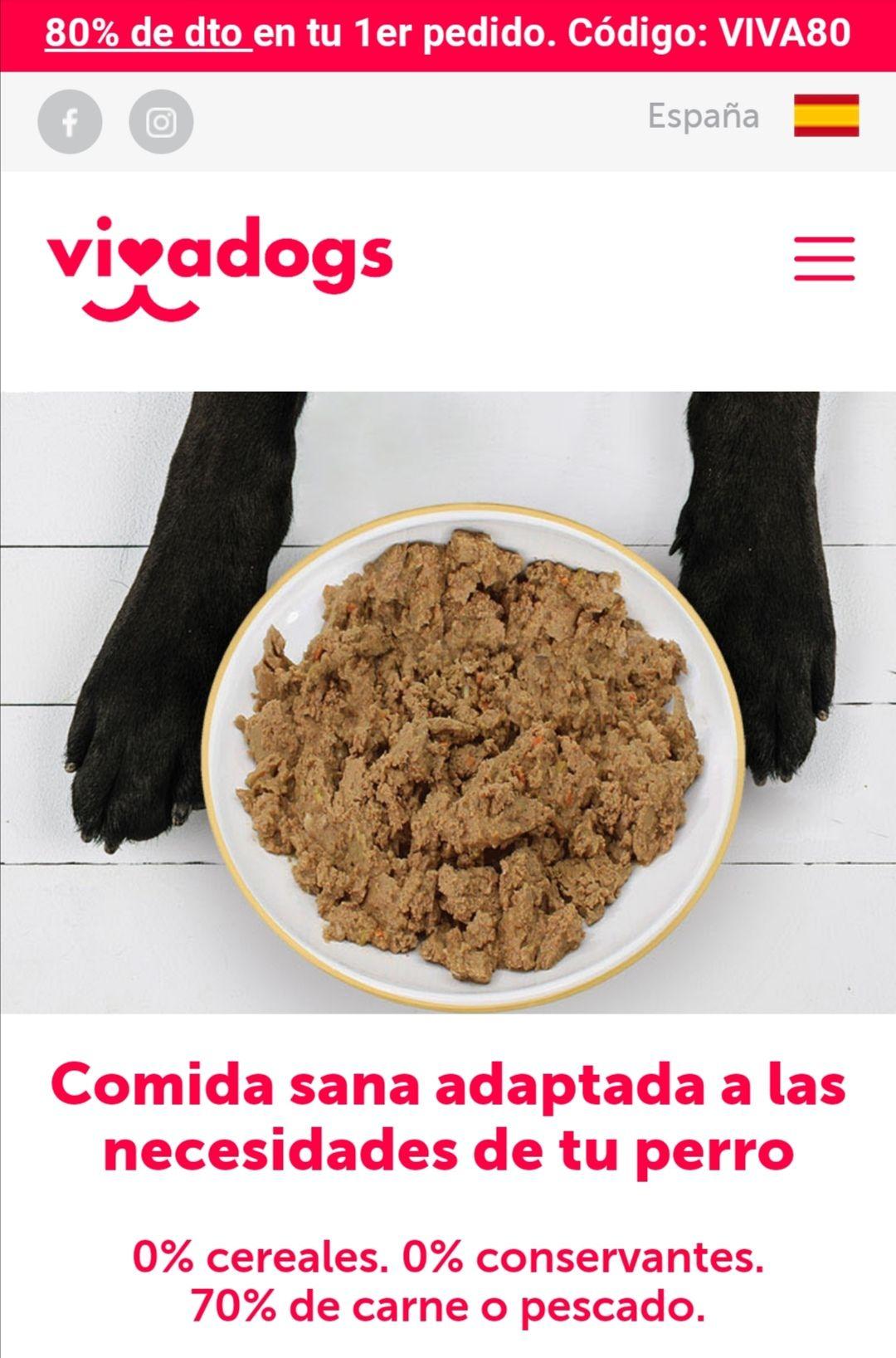 1 mes de Comida para tu perro con 80% de descuento