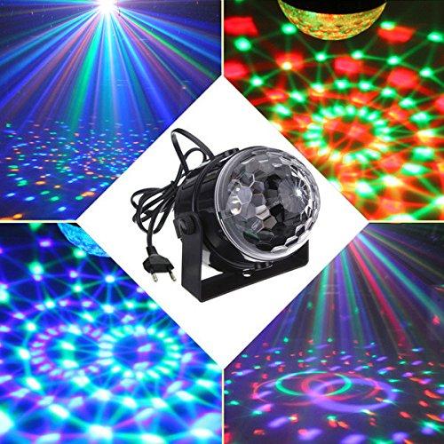 YaFex Mini Luces Discoteca Luz del Escenario Luces de Etapa ,7 Colores RGB LED Làmpara del Partido para Disco, Fiesta, Bar, Boda, DJ, KTV, Concierto (Control Remoto) [Clase de eficiencia energética A+]