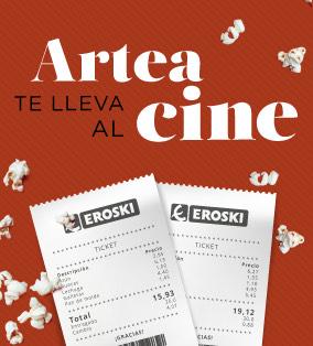 Entrada de cine de Regalo con tu compra de 30€ o mas en Eroski Artea (2 Tickets, Cine Yelmo)