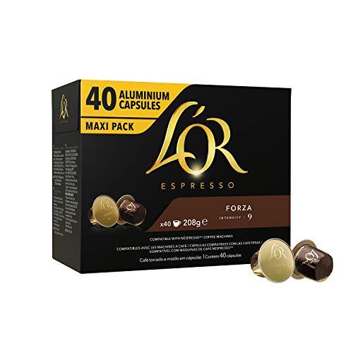 L'OR Espresso Café Maxi Pack bundle - 6 paquetes de 40 cápsulas (240 bebidas)