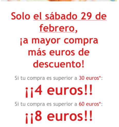 DIA Cupones Club 4€ X 30 o 8 X 60 el 29F
