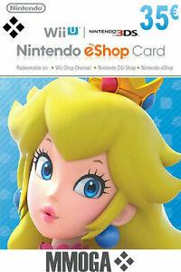 35€ Nintendo eShop Tarjeta Prepago