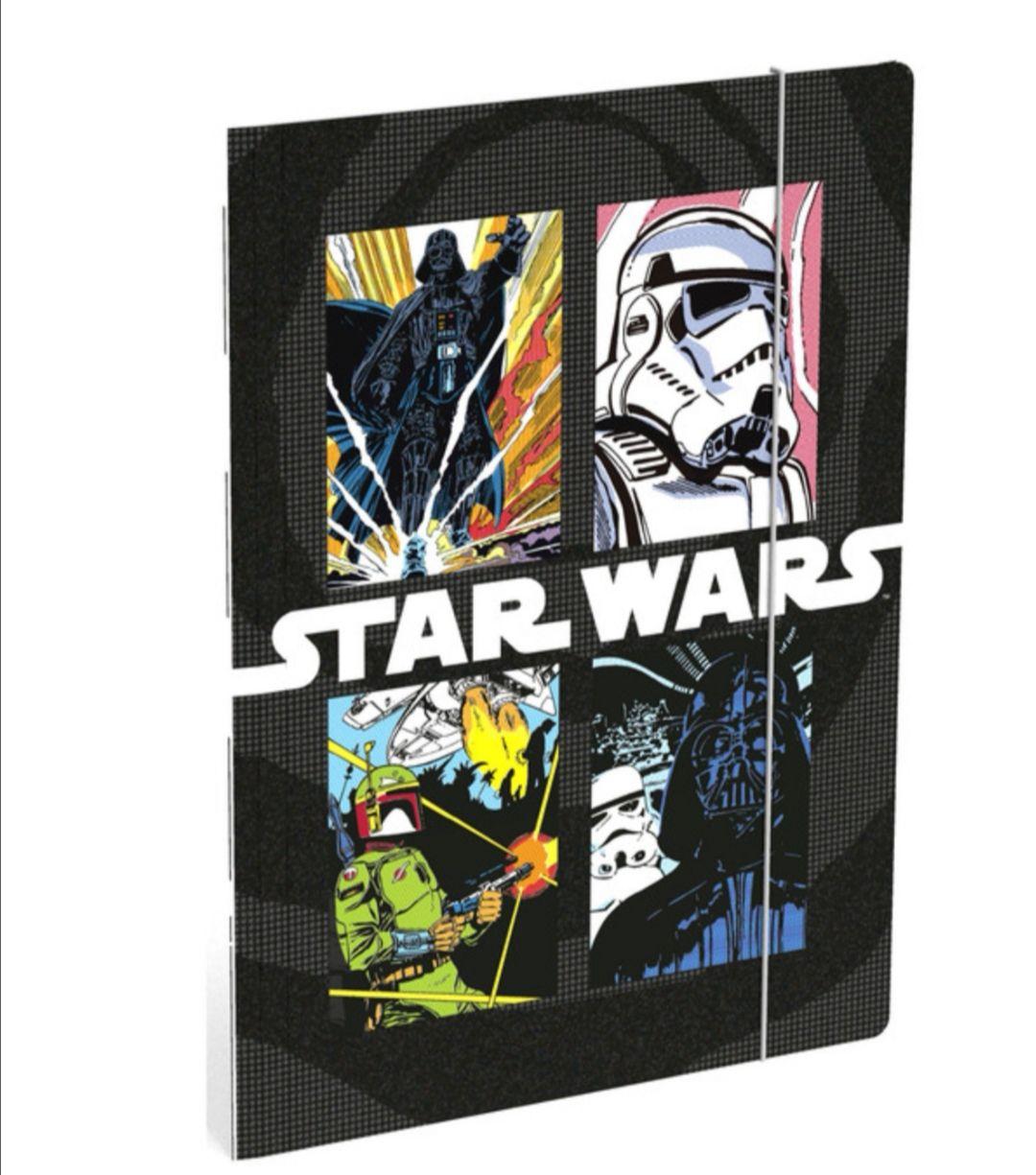 Carpeta Star Wars tamaño folio con gomas.