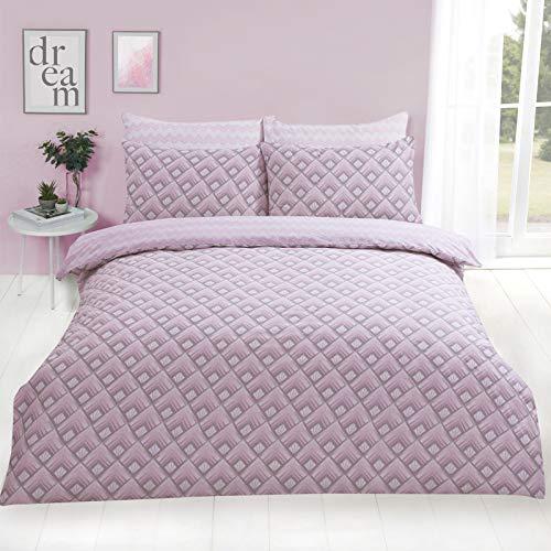 Funda nórdica con estampado rosa para cama de 180
