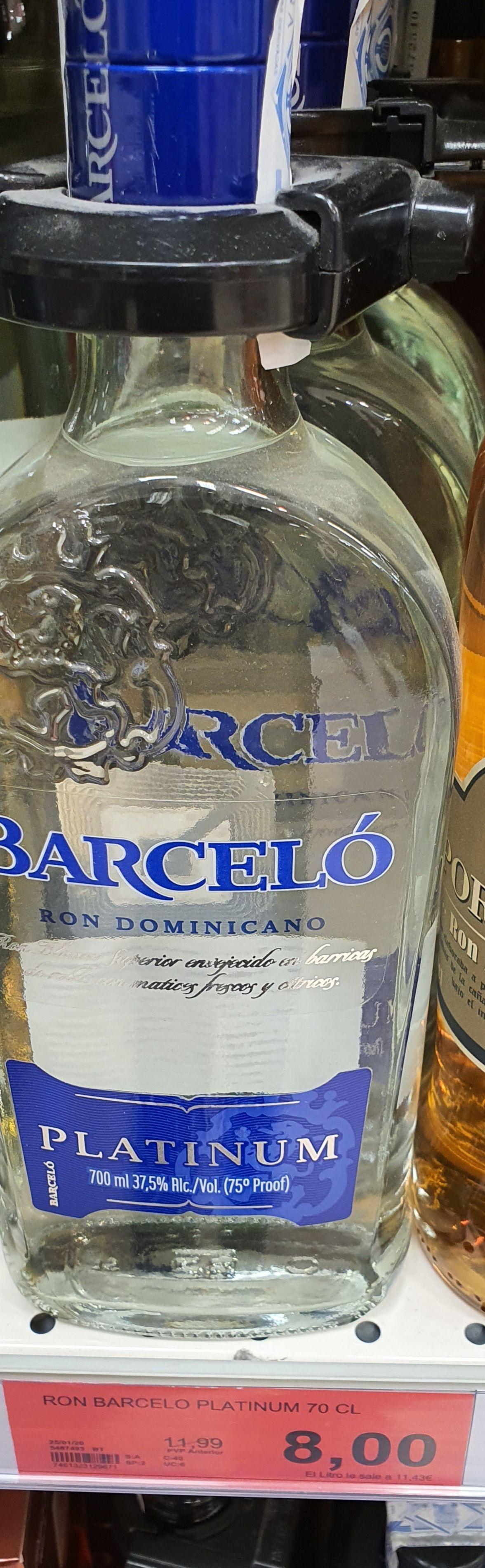 Ron barceló platinum 700ml SUPERSOL (TORROX COSTA)MÁLAGA