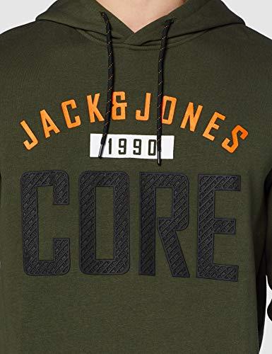 JACK & JONES Jcocarving Sweat Hood Sudadera con Capucha para Hombre