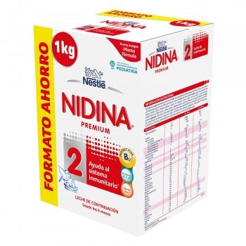 3KG Leche continuación Nidina 2 para bebé (3x2 en Carrefour en Leches de la marca Nidina)