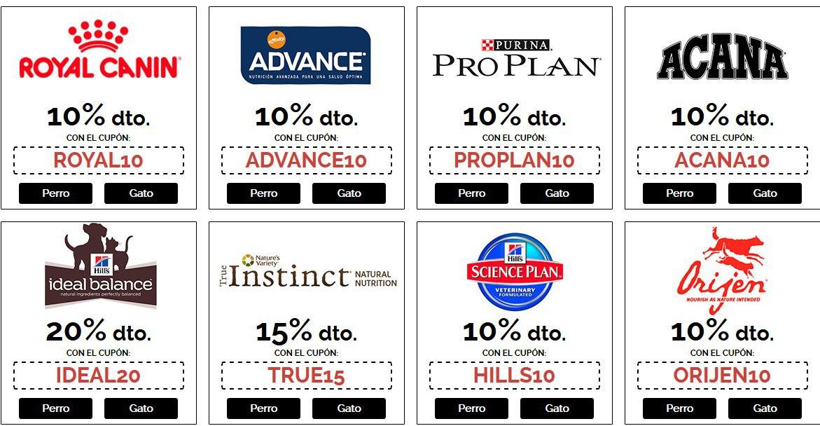 10% descuento en ROYAL CANIN y otras marcas