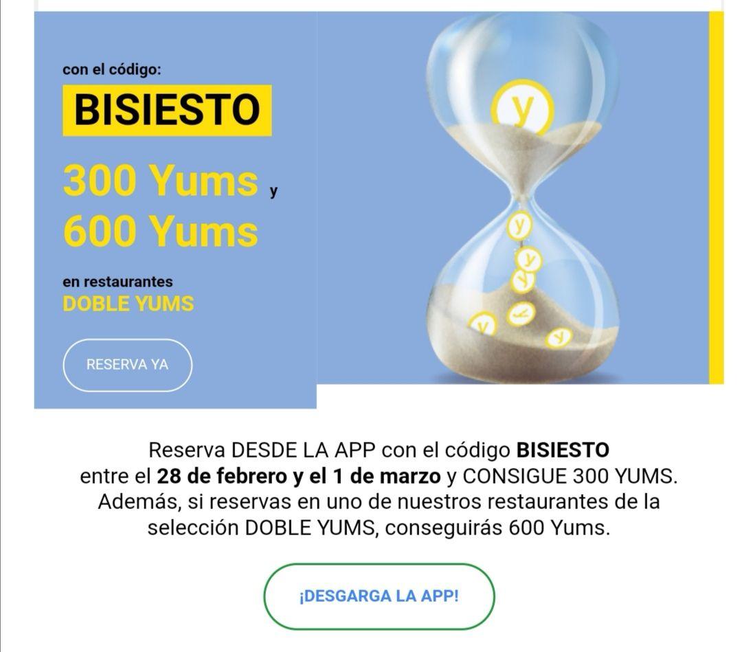 300/600 YUMS EL TENEDOR