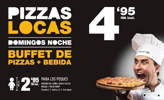 Los domingos por la noche, ¡buffet de pizzas y bebidas en Muerde la Pasta por solo 4,95€!