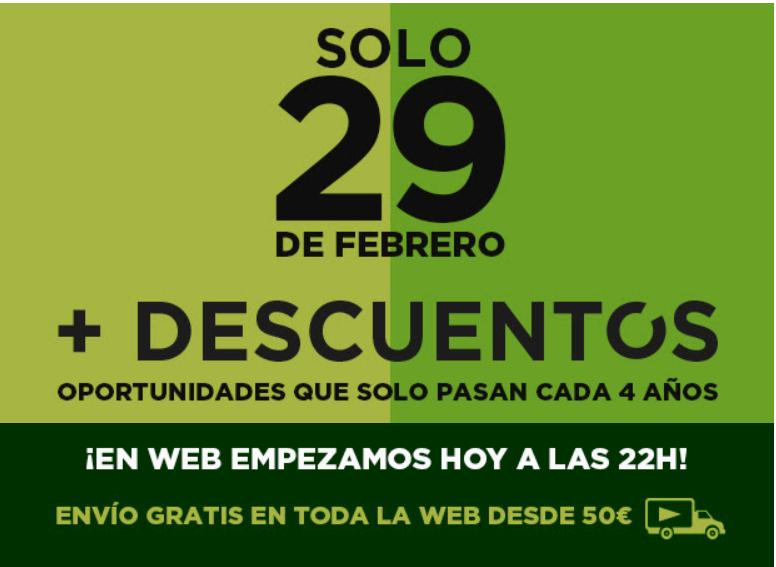 Oferta Especial 29 de Febrero