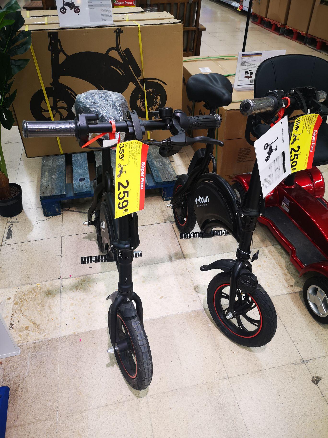 Mini bicicleta eléctrica E-town