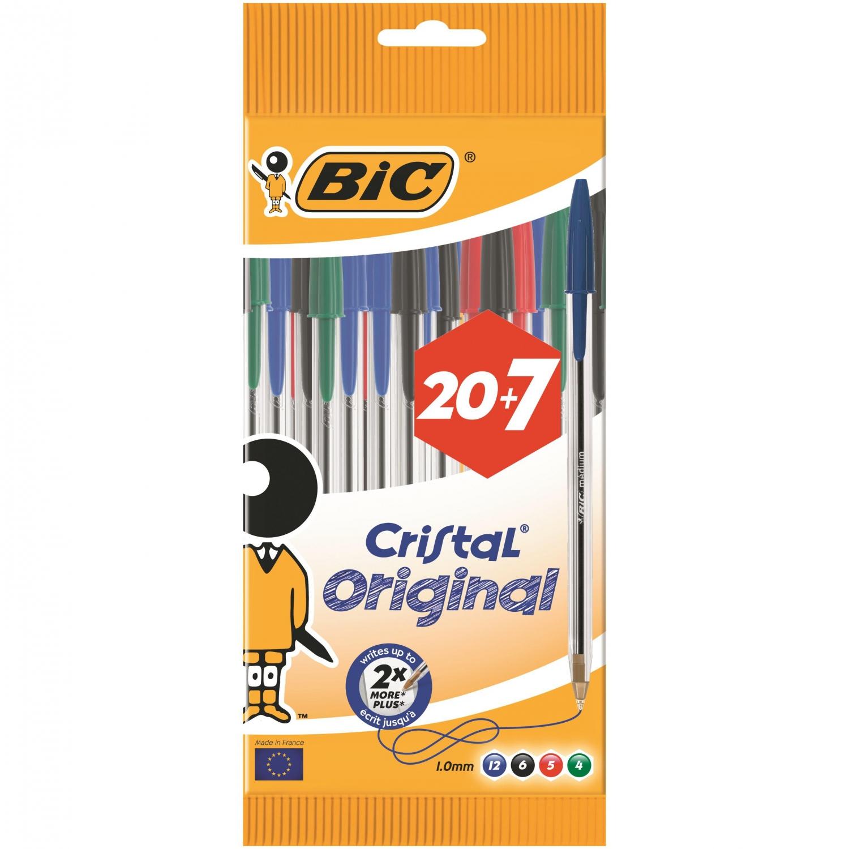 2 packs Bolígrafos Bic Cristal Surtidos 54uds