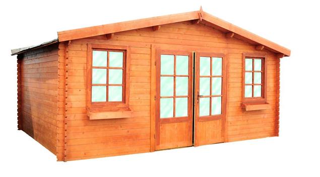 Caseta de madera Alma de 520x247x420 cm y 19.82 m2