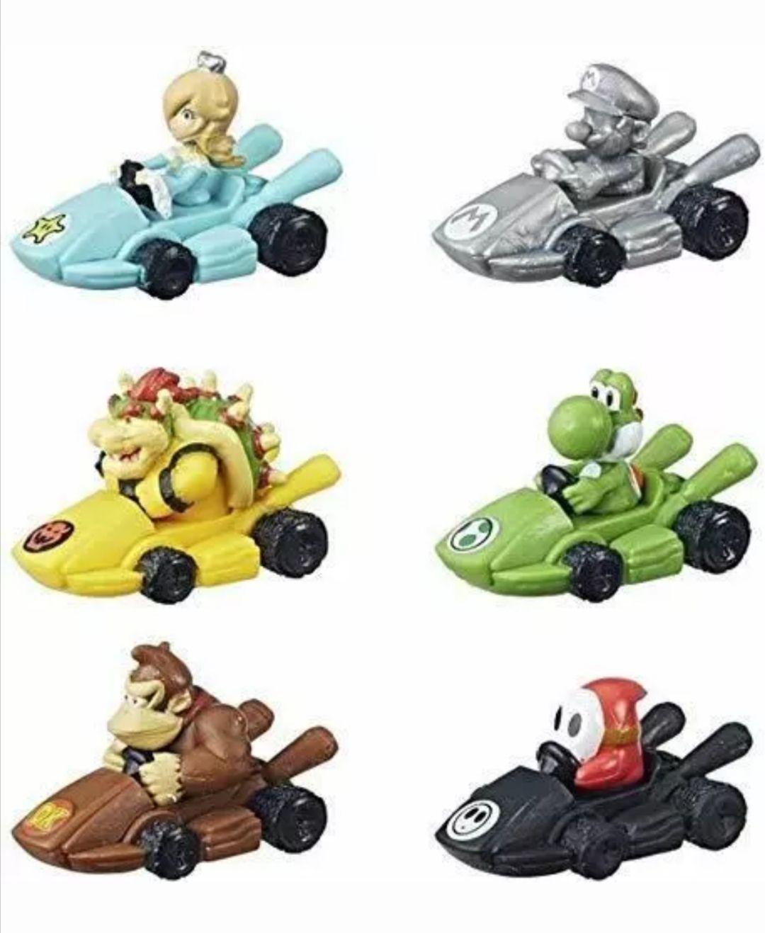Super Precio. Pack 6 figuras con carta de poder para Monopoly Mario Kart