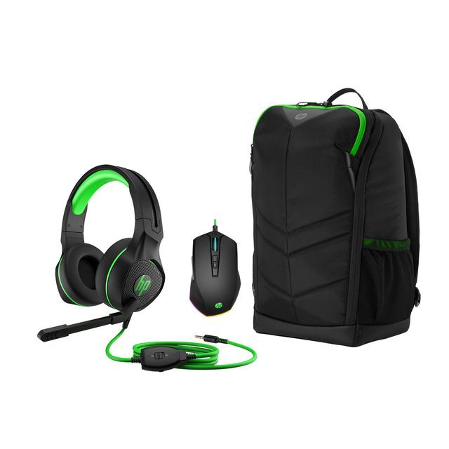 Pack Gaming HP - Auriculares + mochila pavilion+ ratón Pavilion Gaming 200