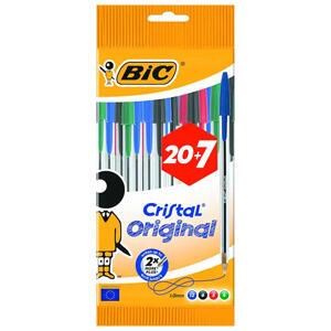 Lote de 27 bolígrafos BIC diferentes colores (AlCampo)