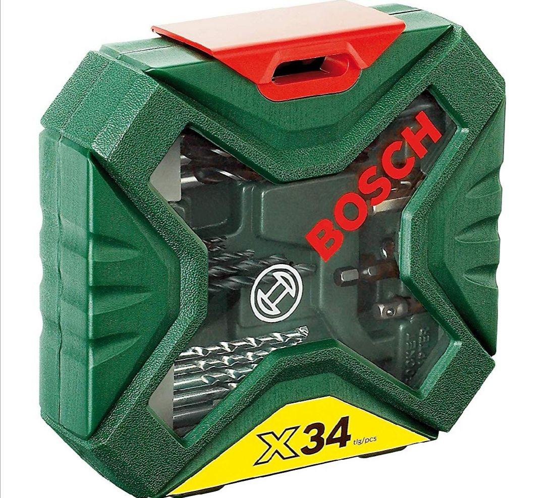 Bosch X-Line - Maletín de 34 unidades para taladrar y atornillar