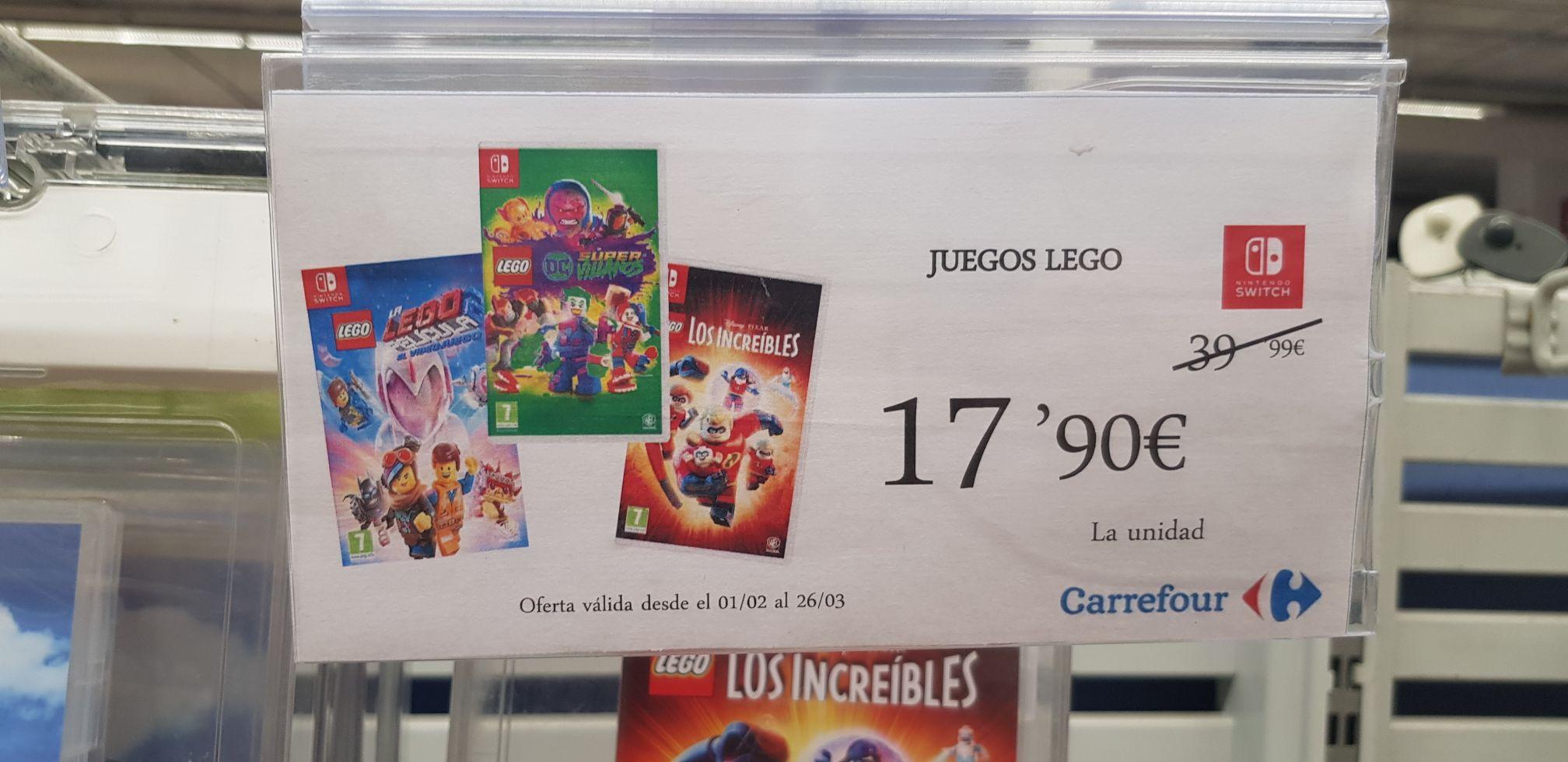 Juegos nintendo switch Lego