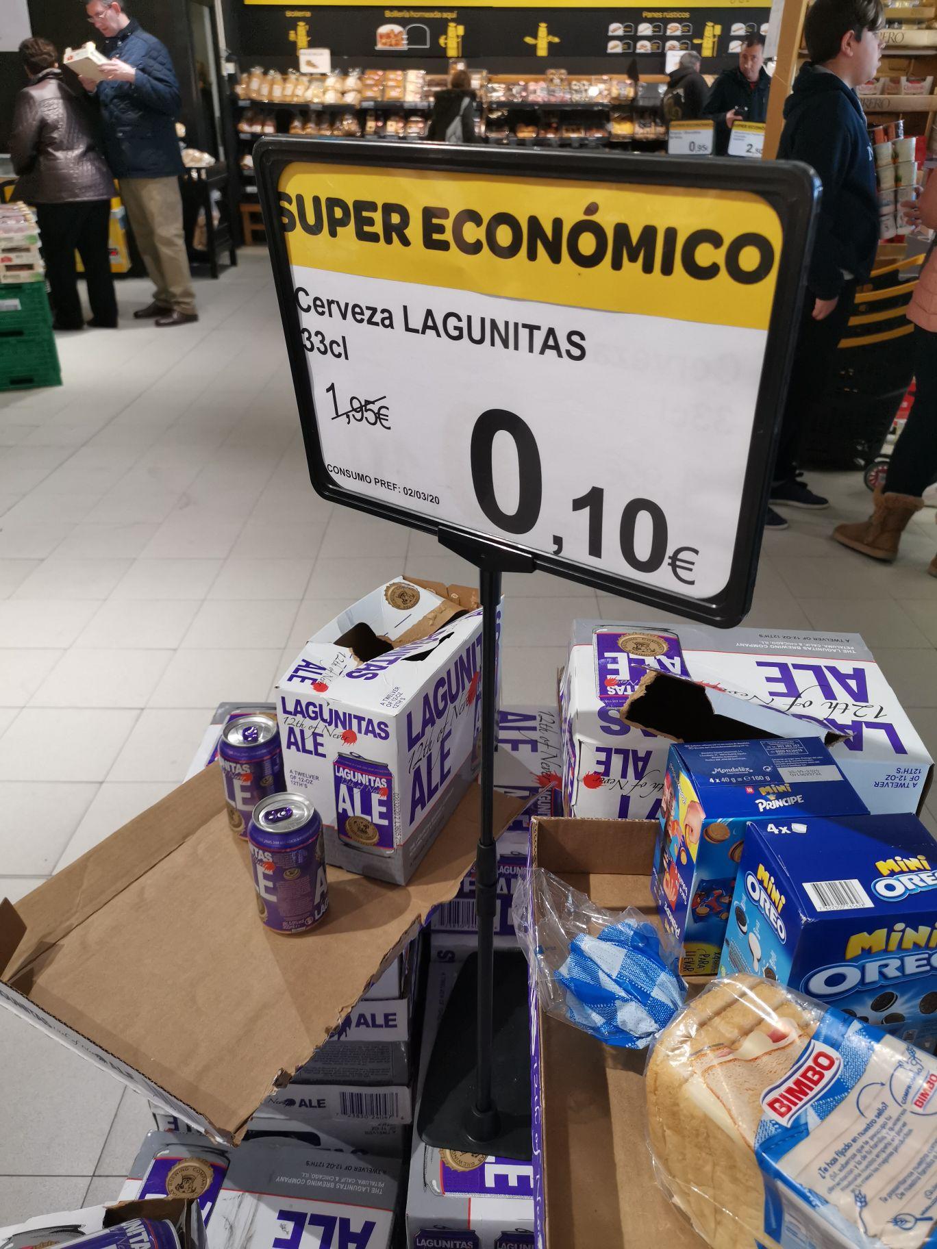 Cerveza lagunitas Supeco Parla