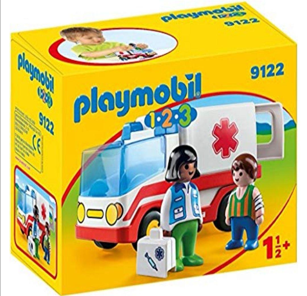 PLAYMOBIL 1.2.3- Ambulancia con 2 figuras y maletín.