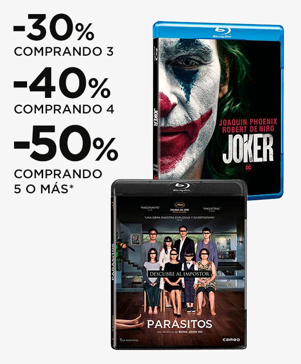 Hasta un 50% de descuento en Blu-ray y UHD 4K al comprar 5 titulos en el Corte Ingles