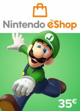Tarjeta Nintendo eShop de 35 € por 30,99 €