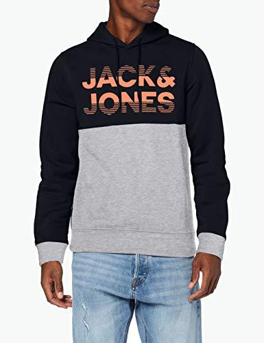 JACK & JONES Jcomilla Sweat Hood Sudadera con Capucha para Hombre en listado por los 4 colores y el mejor precio.