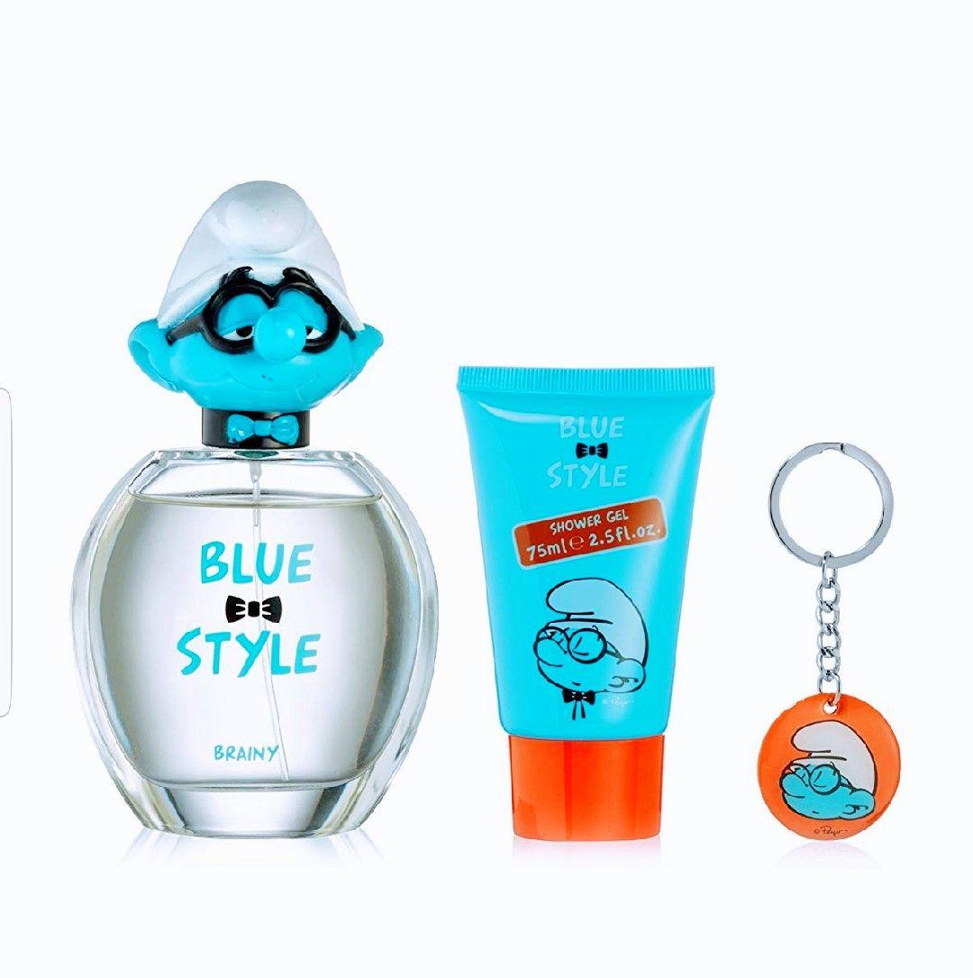 First American Brands. Gel de ducha 75ml+Eau de Toilette niños 100ml+llavero Pitufos.
