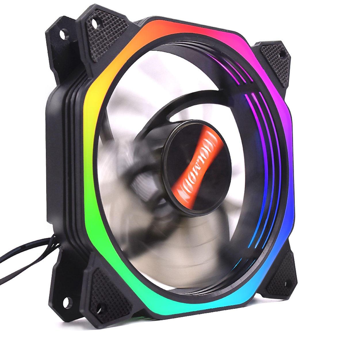Ventilador LED con efecto colores RGB para PC