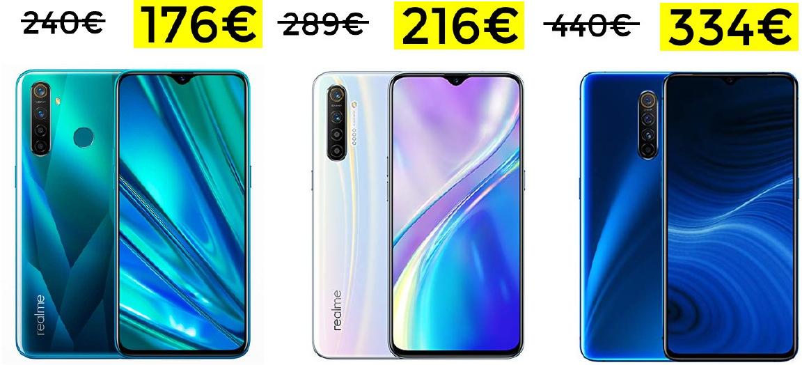 Realme X2 Pro por 334€ y Realme X2 por 216€