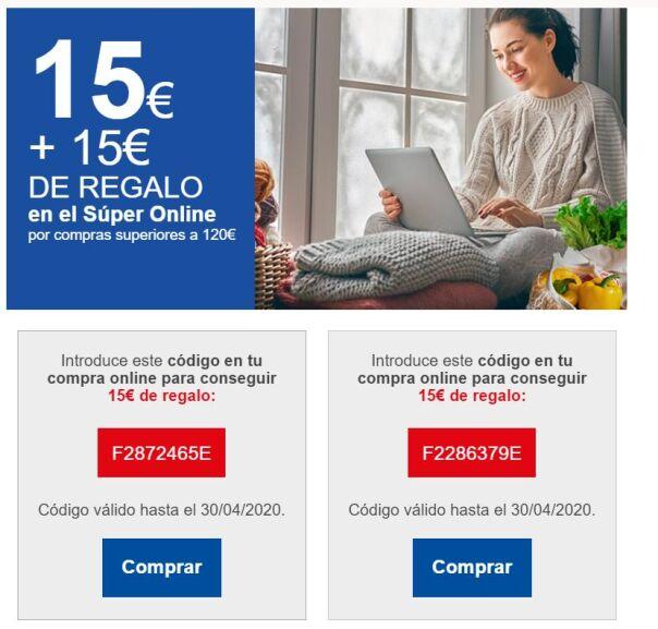 15€ de descuento por compra superior a 100€