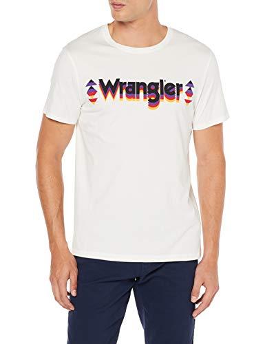 Wrangler Graphic Logo tee Camiseta para Hombre en 2 colores.Hay 3 pero Color: Negro (Black 100) se encarece mucho.