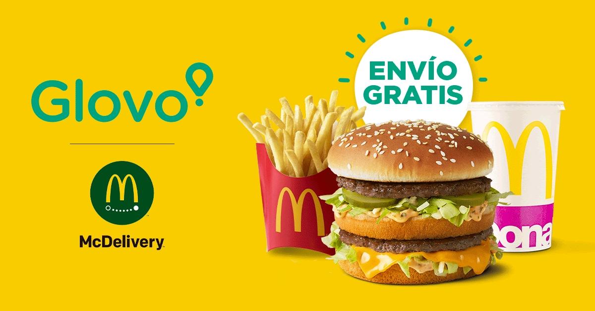 Envio gratis Glovo en McDonald's (todas las cuentas)