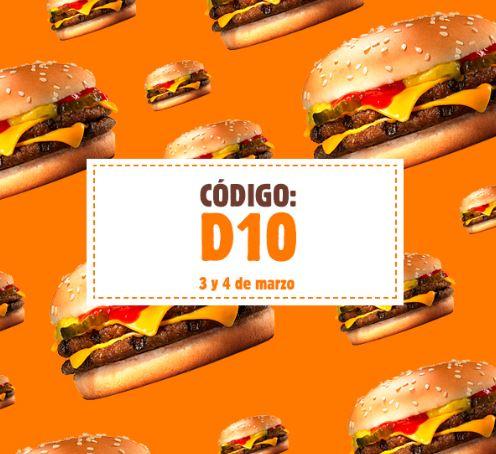 Double Cheese Burger por solo 1€ (3 y 4 de marzo)