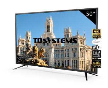 """TV TD Systems 50"""" Smart TV 4K [Desde España]"""