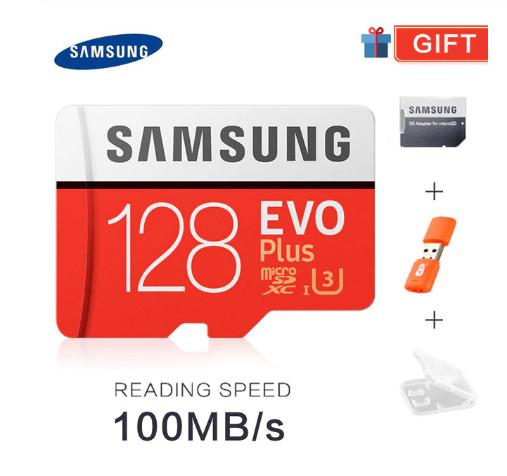 Tarjeta micro SD original Samsung Evo Plus de 128GB
