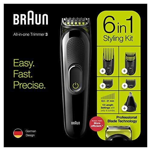 Recortadora de Barba eléctrica 6 en 1 Braun