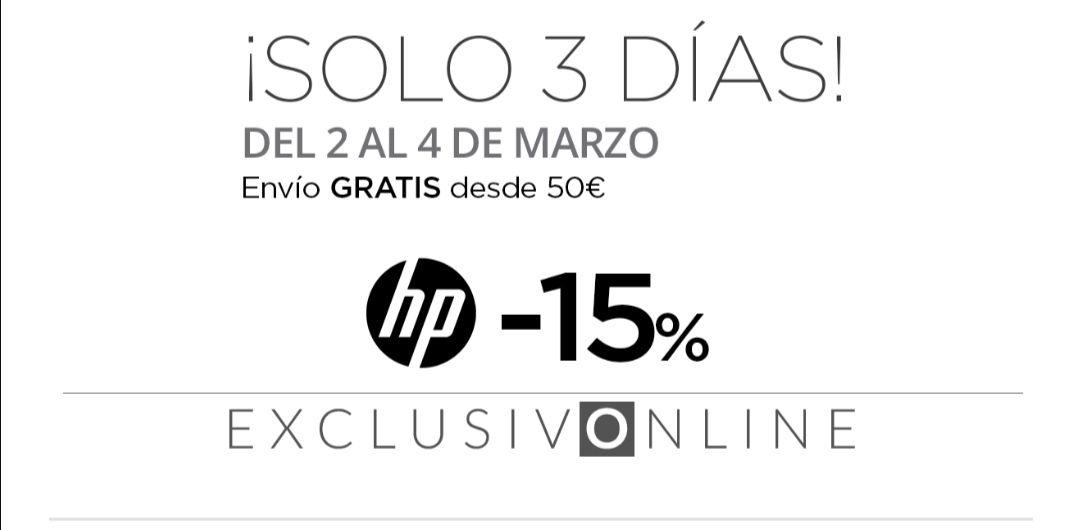 HP al 15% de descuento online en ECI