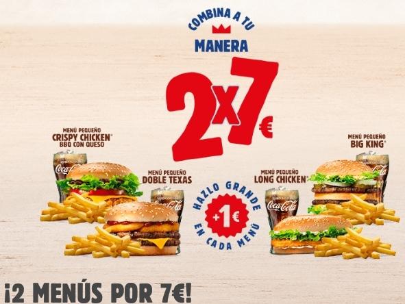 2 Menús por 7€