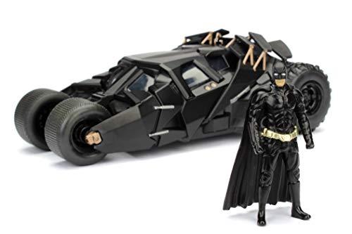 Jada- Batmóvil Coche Metal 2008 El Caballero Oscuro Batman 1:24 coleccionismo, Color negro