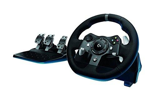 Logitech G920 - Volante para simulación de carreras sin palanca, compatible con PC y Xbox, color negro