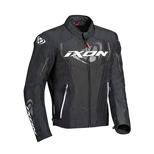 Ixon Cobra negro blanco chaqueta moto, XL