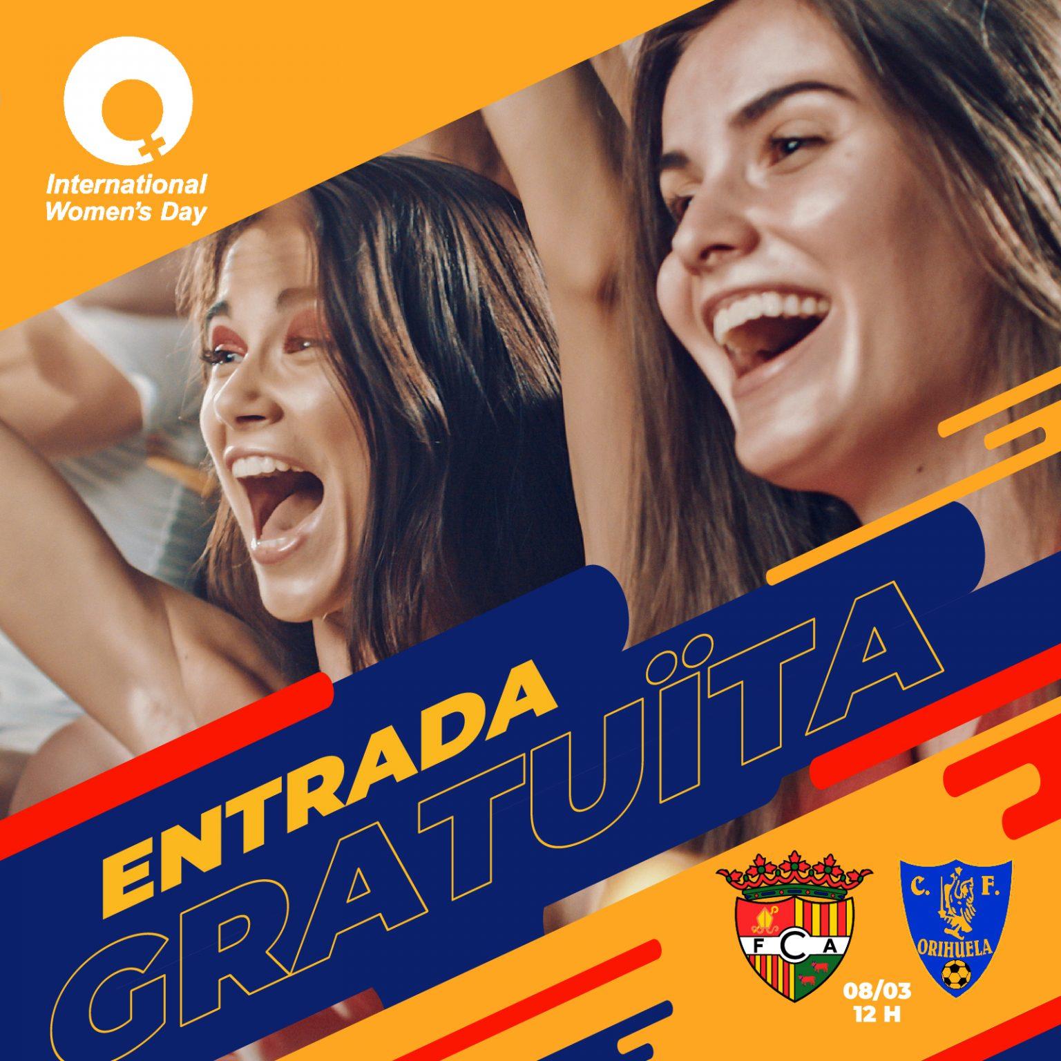 Entrada Gratuita Andorra-Orihuela para todas las mujeres