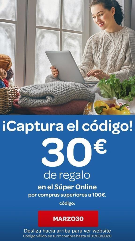 30€ de descuento en Carrefour Online