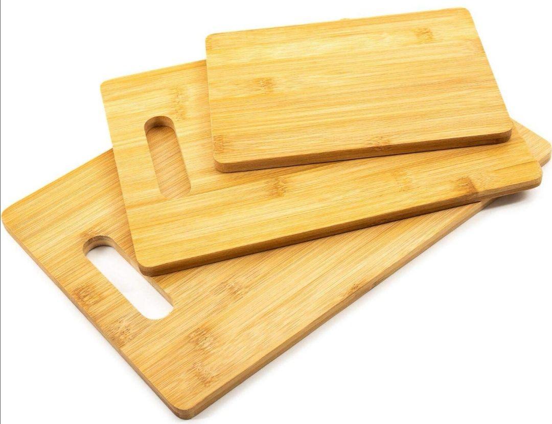 Set de 3 tablas de cortar de bambú