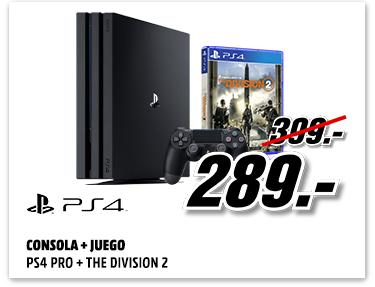 PS4 PRO + The Division 2 por 289€ y Xbox One Star Wars o Gears 5 por 179€
